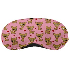 Chihuahua Pattern Sleeping Masks by Valentinaart
