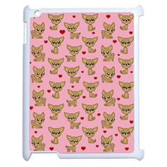 Chihuahua Pattern Apple Ipad 2 Case (white) by Valentinaart