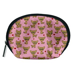 Chihuahua Pattern Accessory Pouches (medium)  by Valentinaart