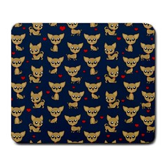 Chihuahua Pattern Large Mousepads by Valentinaart