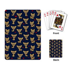 Chihuahua Pattern Playing Card by Valentinaart