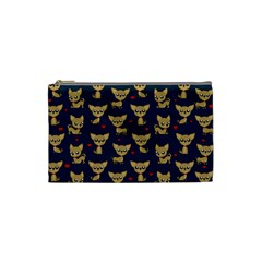 Chihuahua Pattern Cosmetic Bag (small)  by Valentinaart