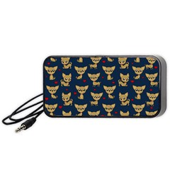 Chihuahua Pattern Portable Speaker by Valentinaart