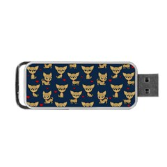 Chihuahua Pattern Portable Usb Flash (one Side) by Valentinaart