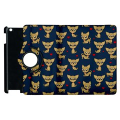 Chihuahua Pattern Apple Ipad 2 Flip 360 Case by Valentinaart