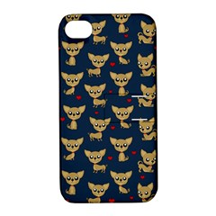 Chihuahua Pattern Apple Iphone 4/4s Hardshell Case With Stand by Valentinaart