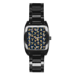 Chihuahua Pattern Stainless Steel Barrel Watch by Valentinaart