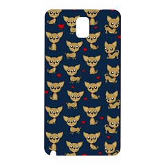 Chihuahua Pattern Samsung Galaxy Note 3 N9005 Hardshell Back Case by Valentinaart