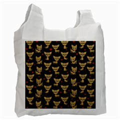 Chihuahua Pattern Recycle Bag (two Side)  by Valentinaart
