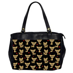 Chihuahua Pattern Office Handbags (2 Sides)  by Valentinaart