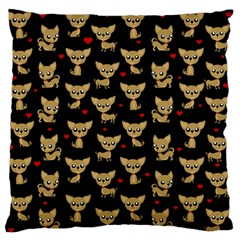 Chihuahua Pattern Standard Flano Cushion Case (one Side) by Valentinaart
