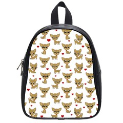 Chihuahua Pattern School Bag (small) by Valentinaart