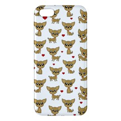 Chihuahua Pattern Apple Iphone 5 Premium Hardshell Case