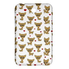 Chihuahua Pattern Samsung Galaxy Tab 3 (7 ) P3200 Hardshell Case  by Valentinaart