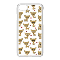 Chihuahua Pattern Apple Iphone 8 Seamless Case (white) by Valentinaart