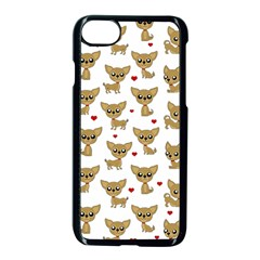 Chihuahua Pattern Apple Iphone 8 Seamless Case (black) by Valentinaart