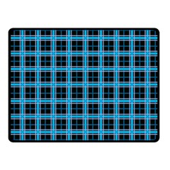 Deep Sea Tartan Fleece Blanket (small)