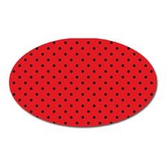 Ladybug Oval Magnet by jumpercat