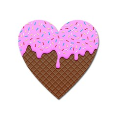 Chocolate And Strawberry Icecream Heart Magnet by jumpercat