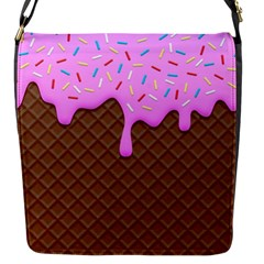 Chocolate And Strawberry Icecream Flap Messenger Bag (s) by jumpercat