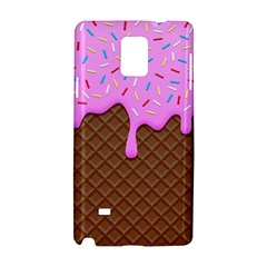 Chocolate And Strawberry Icecream Samsung Galaxy Note 4 Hardshell Case by jumpercat