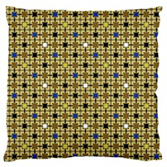 Persian Blocks Desert Large Cushion Case (one Side) by jumpercat