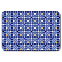 Persian Block Sky Large Doormat  by jumpercat