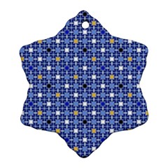 Persian Block Sky Snowflake Ornament (two Sides) by jumpercat