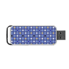 Persian Block Sky Portable Usb Flash (one Side) by jumpercat