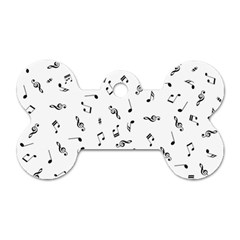 Music Tones Light Dog Tag Bone (two Sides) by jumpercat