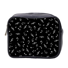 Music Tones Black Mini Toiletries Bag 2 Side by jumpercat