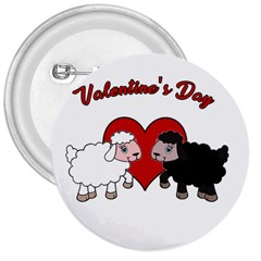 Valentines Day   Sheep  3  Buttons by Valentinaart