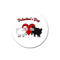 Valentines Day   Sheep  Magnet 3  (round) by Valentinaart