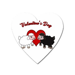 Valentines Day   Sheep  Heart Magnet by Valentinaart