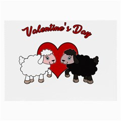 Valentines Day   Sheep  Large Glasses Cloth (2 Side) by Valentinaart