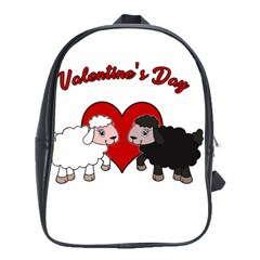 Valentines Day   Sheep  School Bag (xl) by Valentinaart