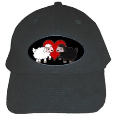 Valentines Day   Sheep  Black Cap by Valentinaart