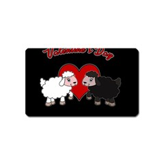 Valentines Day   Sheep  Magnet (name Card) by Valentinaart