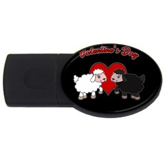 Valentines Day   Sheep  Usb Flash Drive Oval (2 Gb) by Valentinaart