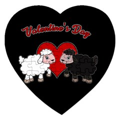 Valentines Day   Sheep  Jigsaw Puzzle (heart) by Valentinaart