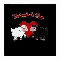 Valentines Day - Sheep  Medium Glasses Cloth by Valentinaart