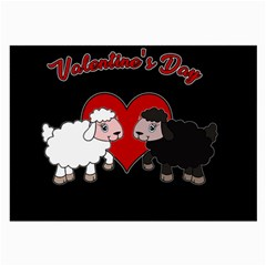 Valentines Day   Sheep  Large Glasses Cloth