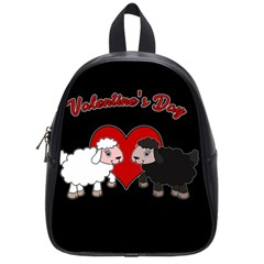 Valentines Day   Sheep  School Bag (small) by Valentinaart