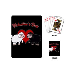 Valentines Day   Sheep  Playing Cards (mini)  by Valentinaart