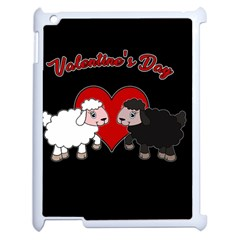 Valentines Day   Sheep  Apple Ipad 2 Case (white) by Valentinaart
