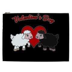 Valentines Day   Sheep  Cosmetic Bag (xxl)  by Valentinaart