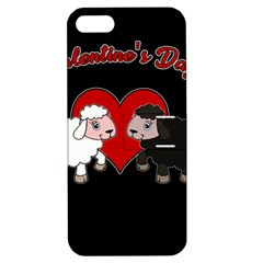 Valentines Day   Sheep  Apple Iphone 5 Hardshell Case With Stand