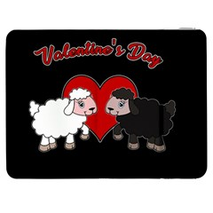 Valentines Day   Sheep  Samsung Galaxy Tab 7  P1000 Flip Case by Valentinaart