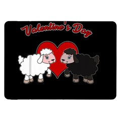 Valentines Day   Sheep  Samsung Galaxy Tab 8 9  P7300 Flip Case by Valentinaart