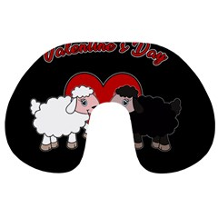 Valentines Day   Sheep  Travel Neck Pillows by Valentinaart